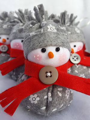 pupazzo di neve feltro