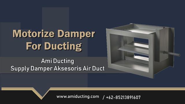 Motorize Damper Aksesoris Ducting