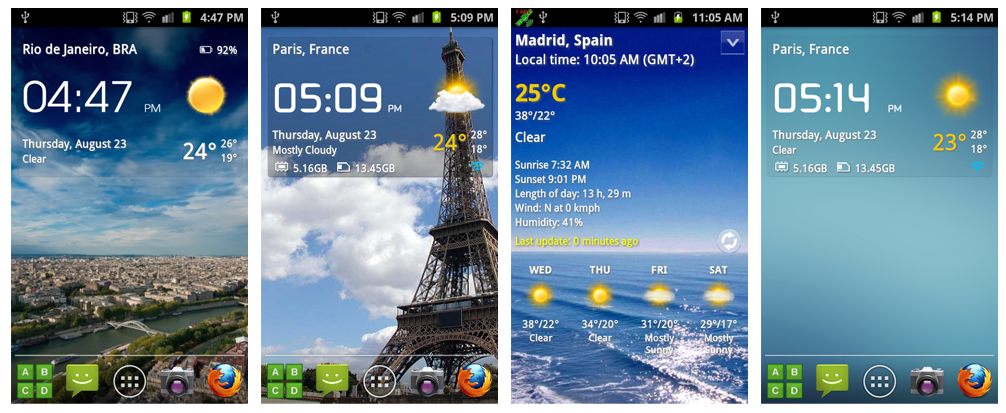 Image result for Transparent Clock and Weather