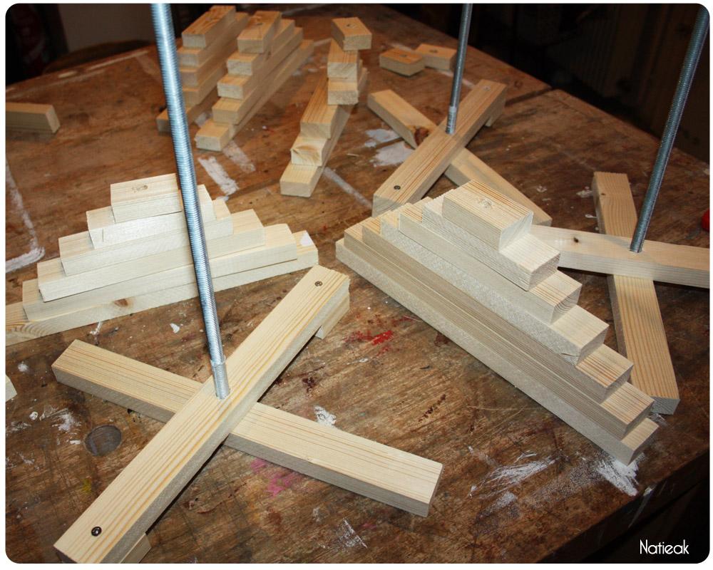 fabrication d'un sapin de bois issu de  sources responsables PEFC