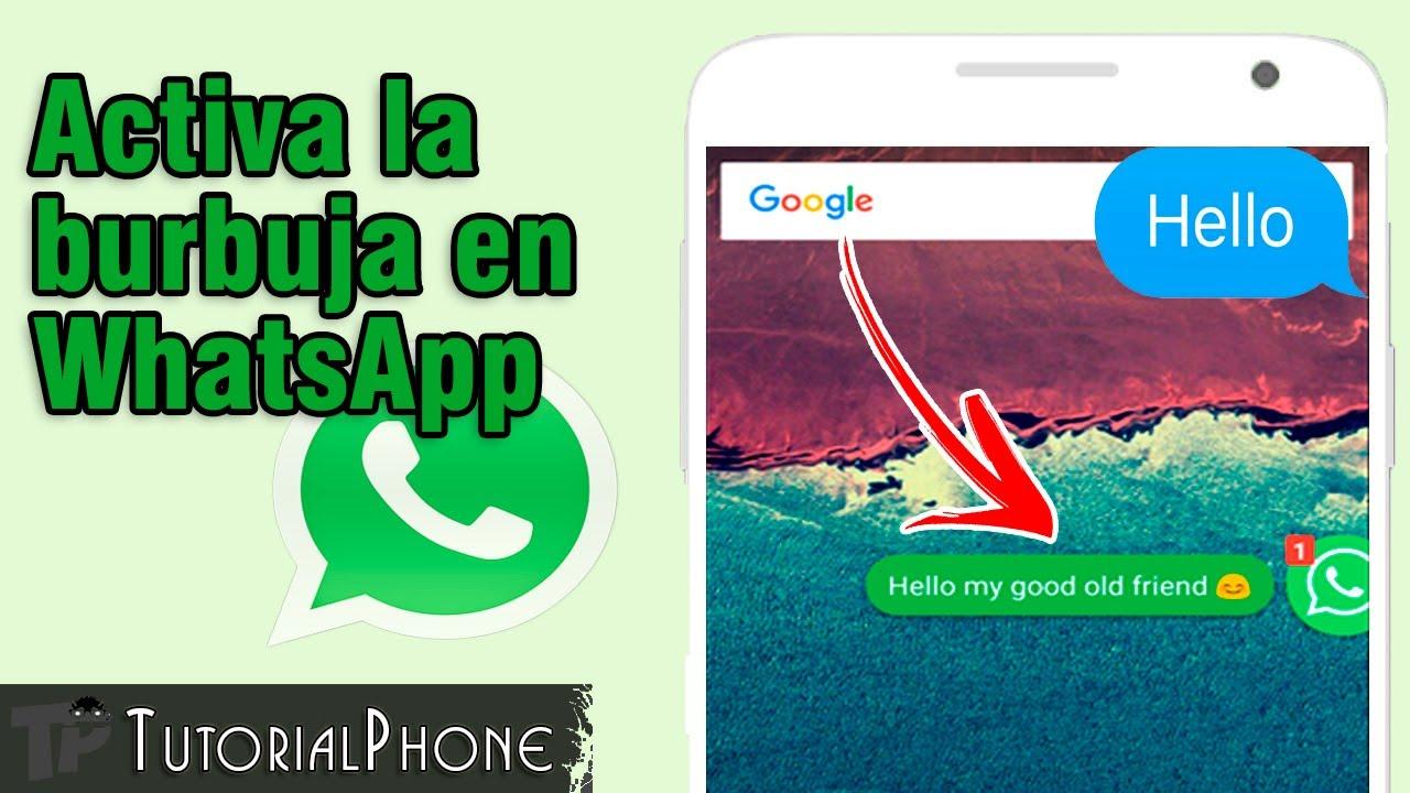 burbuja en WhatsApp