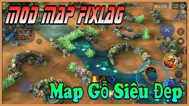 Mod Map Liên Quân Map Nền Gỗ Siêu Đẹp | HQT LAG CHANNEL