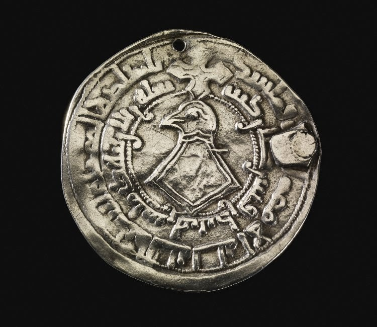 A Falcon Imitation Dirham Issued By The Kievan Rus In C 950 Reused Twice As Pendant And Found Estonia Image British Museum