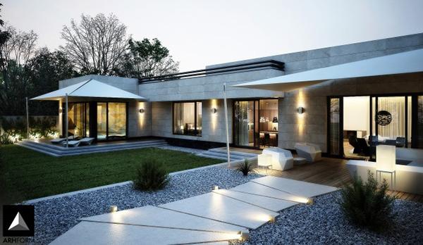 Desain Taman Depan Rumah Modern