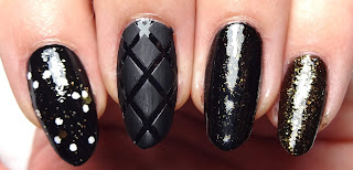 Black Quilted Nail