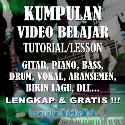 Video Belajar Gitar, Piano, Bass Gratis Lengkap