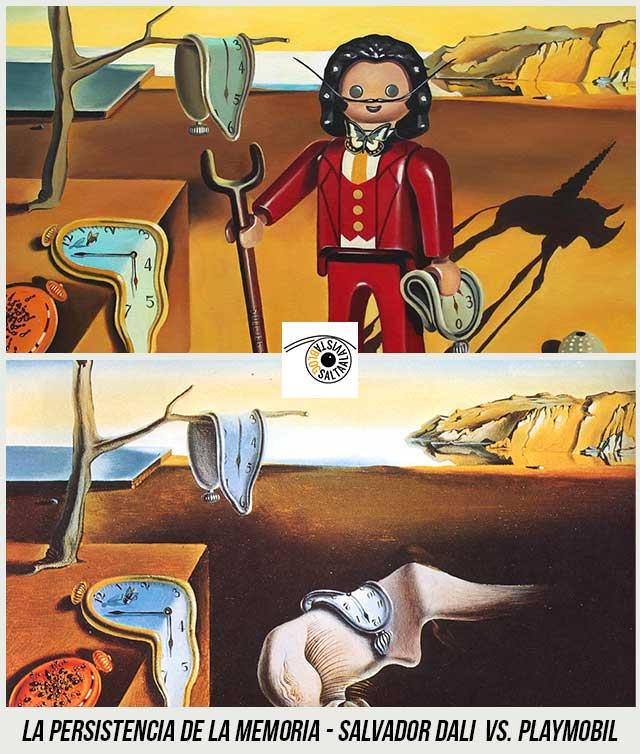 Cuadro-La-Persistencia-de-la-Memoria-de-Salvador-Dali--Hecho-con-Playmobil