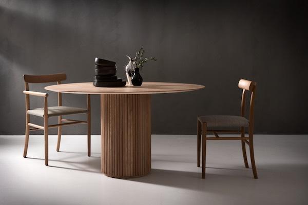 Round Design tables by Swedish Asplund