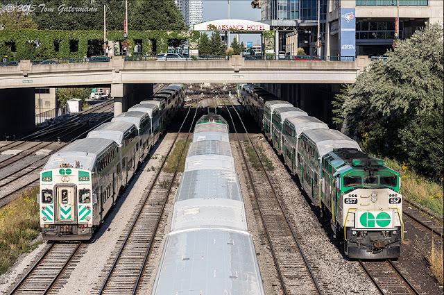 GOT 242 and GOT 557 - Union Station Rail Corridor - Toronto , ON