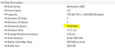 Mengecek RPM Harddisk Melalui Aplikasi