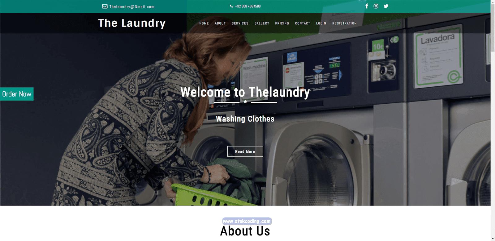 Aplikasi Laundry Berbasis Web (PHP)