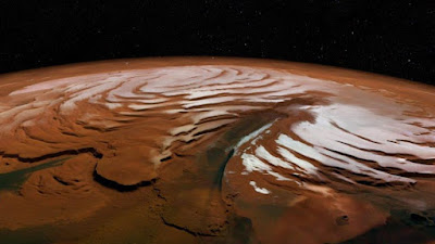 An image of Mars' northern polar ice cap