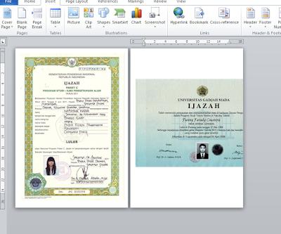 Cara Membuat Dua Jenis Kertas Portrait dan Landscape Dalam Satu Dokumen Word 2010
