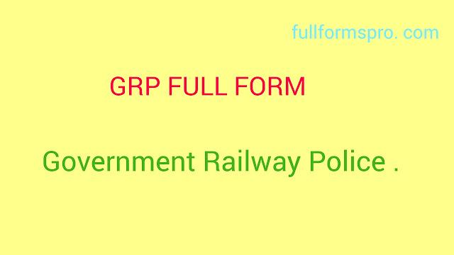 Full form of GRP, GRP full form