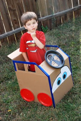 Lightning McQueen cars cardboard costume