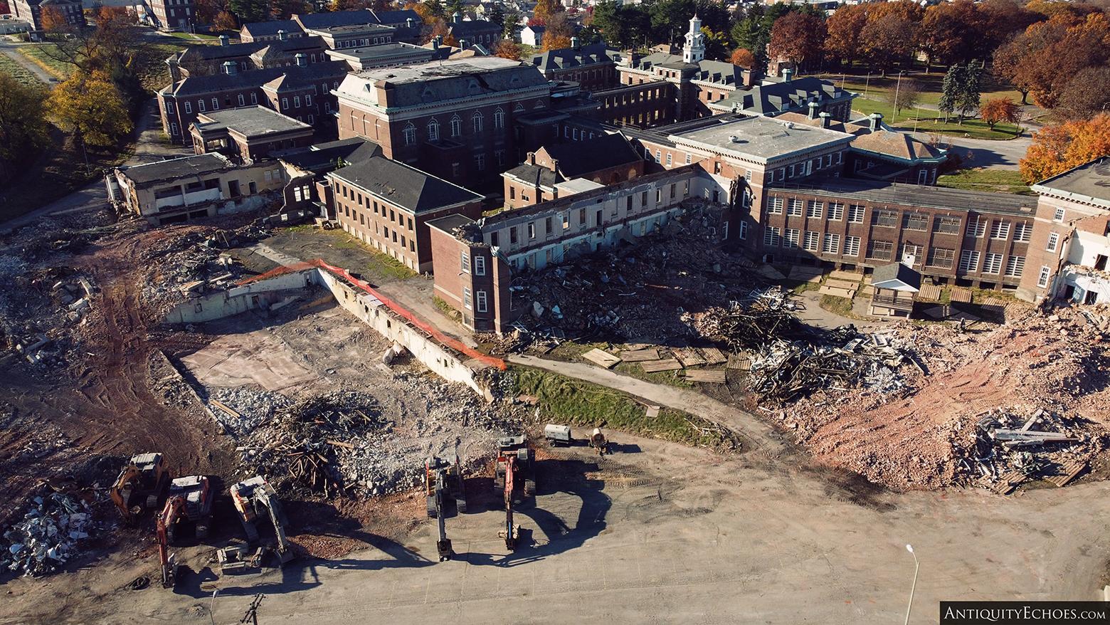 Allentown State Hospital - Demolition Begins