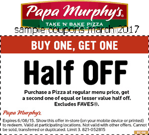 Papa Murphys coupons march 2017