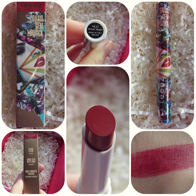 Teeez Cosmetics Oasis Gem Lipstick in Heat Wave Ruby