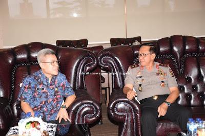 Kapolda Jambi Terima Audiensi Dari Kepala BPN Provinsi Jambi