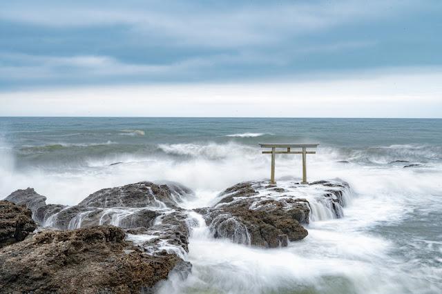 茨城,大洗磯前神社,水