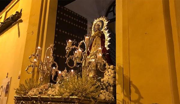 Horario e Itinerario Salida procesional de la Virgen de Montemayor. Sevilla 19 de Octubre del 2019