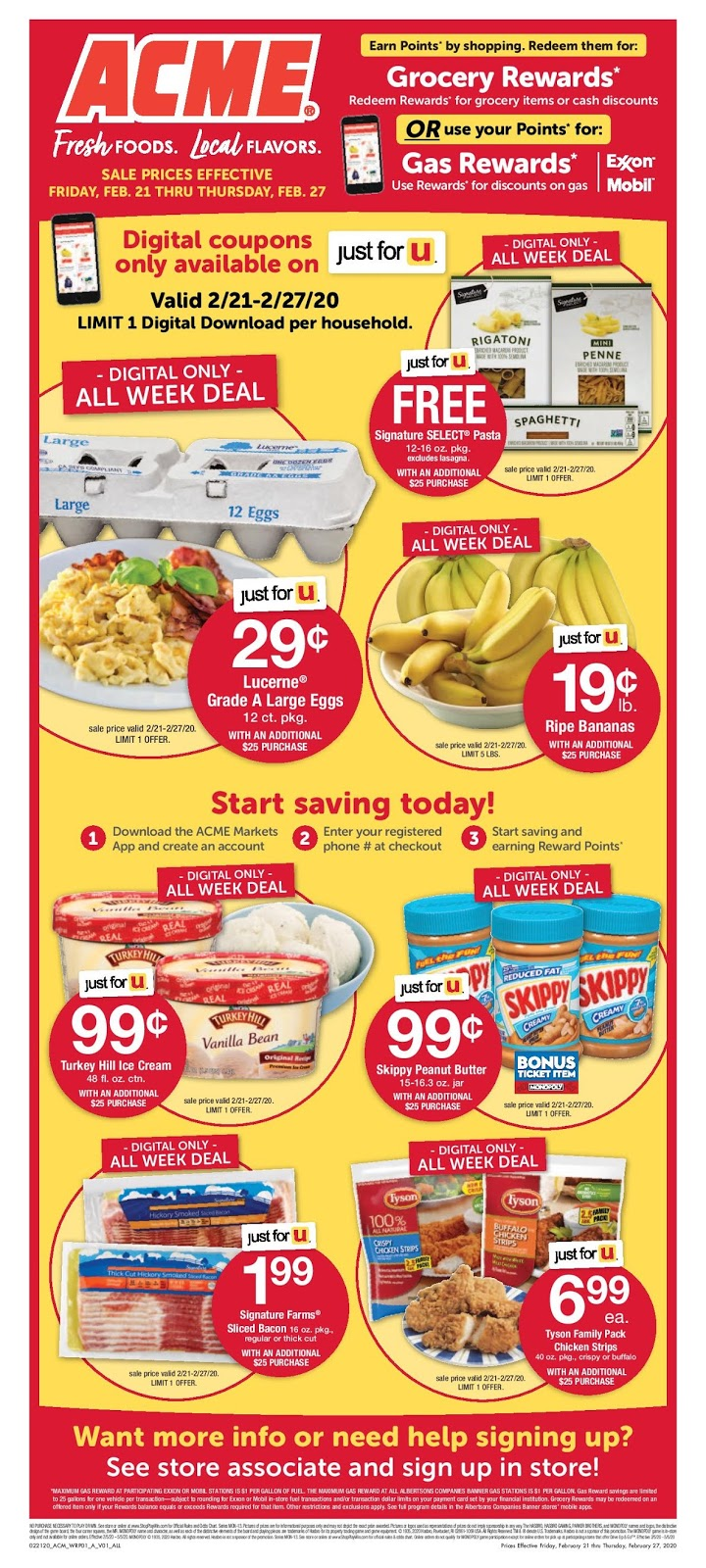 ⭐ Acme Ad 2/28/20 ⭐ Acme Weekly Ad February 28 2020