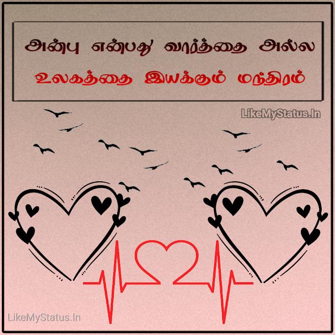 அன்பு ஸ்டேட்டஸ் இமேஜ்... Anbu Tamil Status Image...