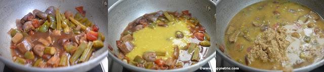 Step 6 -Kerala Style Varutaracha Sambar Recipe
