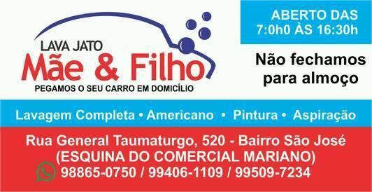 LAVA JATO MÃE E FILHO