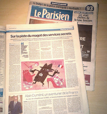 Clod illustration Parisien article service secret 13 octobre 2016
