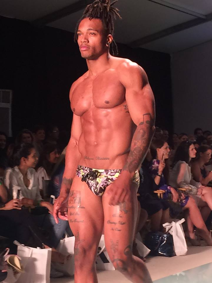 black male model speedo