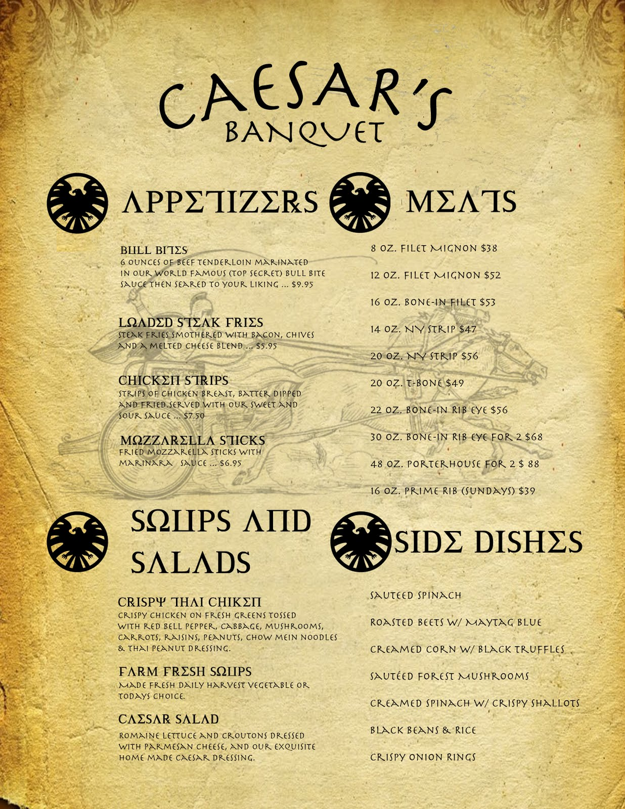 Sms graphic design elective 2010 2011 january 2011 for Roman menu template