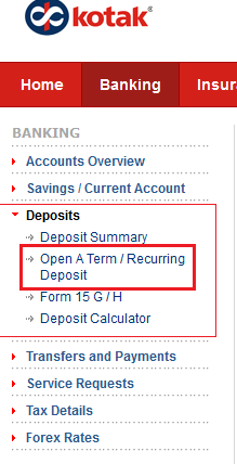 Kotak Mahindra Bank TD Account