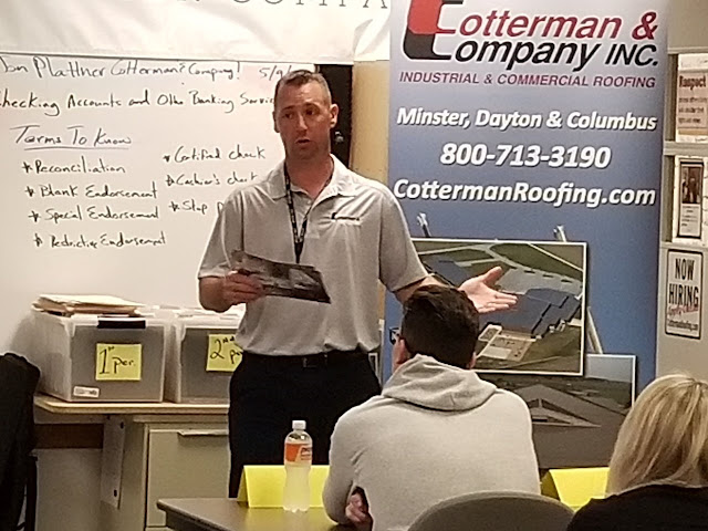 Jon Plattner of Cotterman & Company visits Tri Star CBI class in Celina