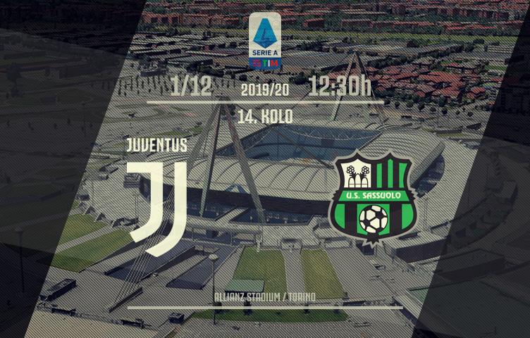 Serie A 2019/20 / 14. kolo / Juventus - Sassuolo, nedelja, 12:30h