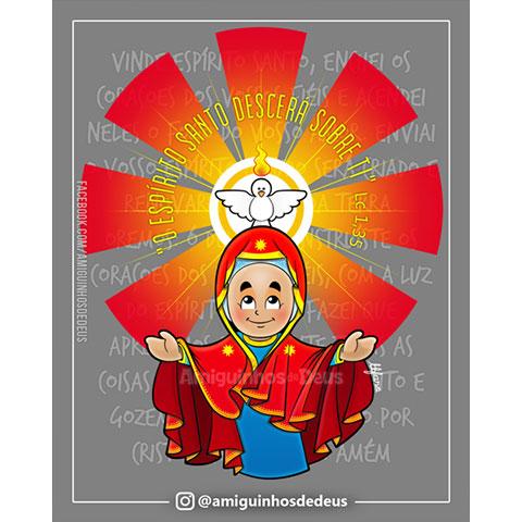 desenho nossa senhora de pentecostes