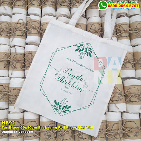 Tas Blacu 30x30cm Packaging Roll Paper Plus Tali