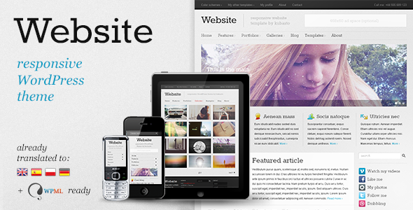 Website Responsive WordPress Theme Free Download