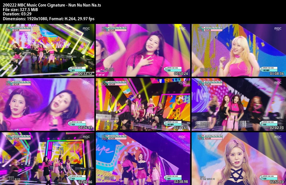 Music Core , Cignature . Nun Nu Nan Na , 1080p , Kpop, 2020