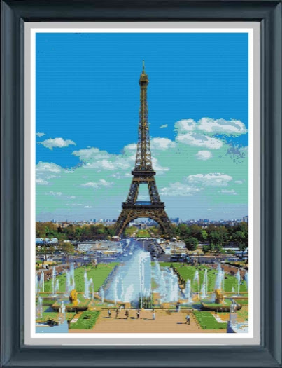 The Eiffel Tower Cross Stitch Pattern