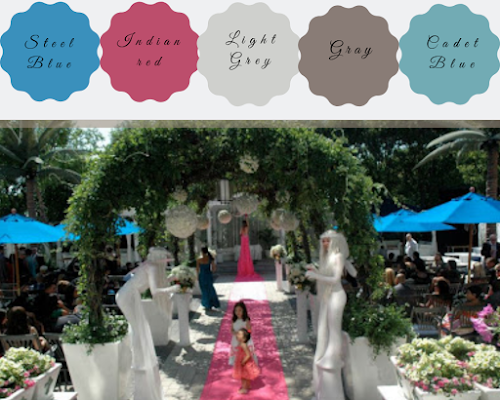 Wedding Color Schemes For Fall- depending on your venue,you can add color here. Entertain your guests while adding color to the entrance - Wedding Soiree Blog by K'Mich, Philadelphia's premier resource for wedding planning and inspiration