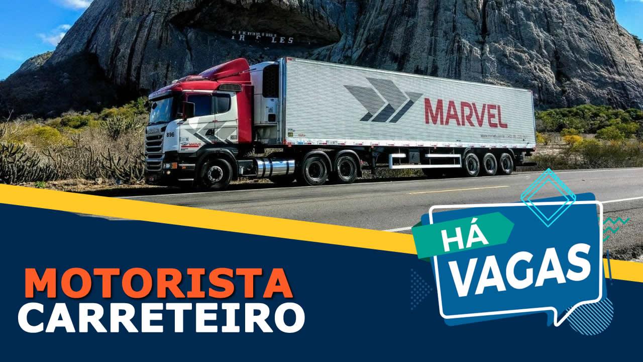 vaga para motorista na Transportadora Marvel