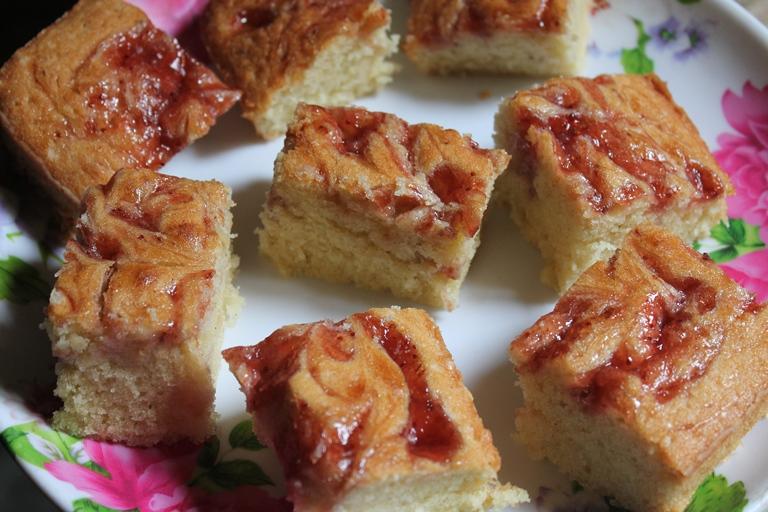 Strawberry Cake Recipe With Jelly: Jam Swirled Coffee Cake Recipe