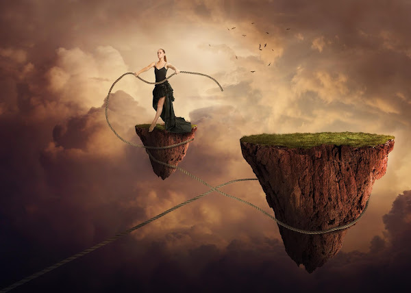 Floating Land Photo Manipulation Tutorial PhotoshopCC