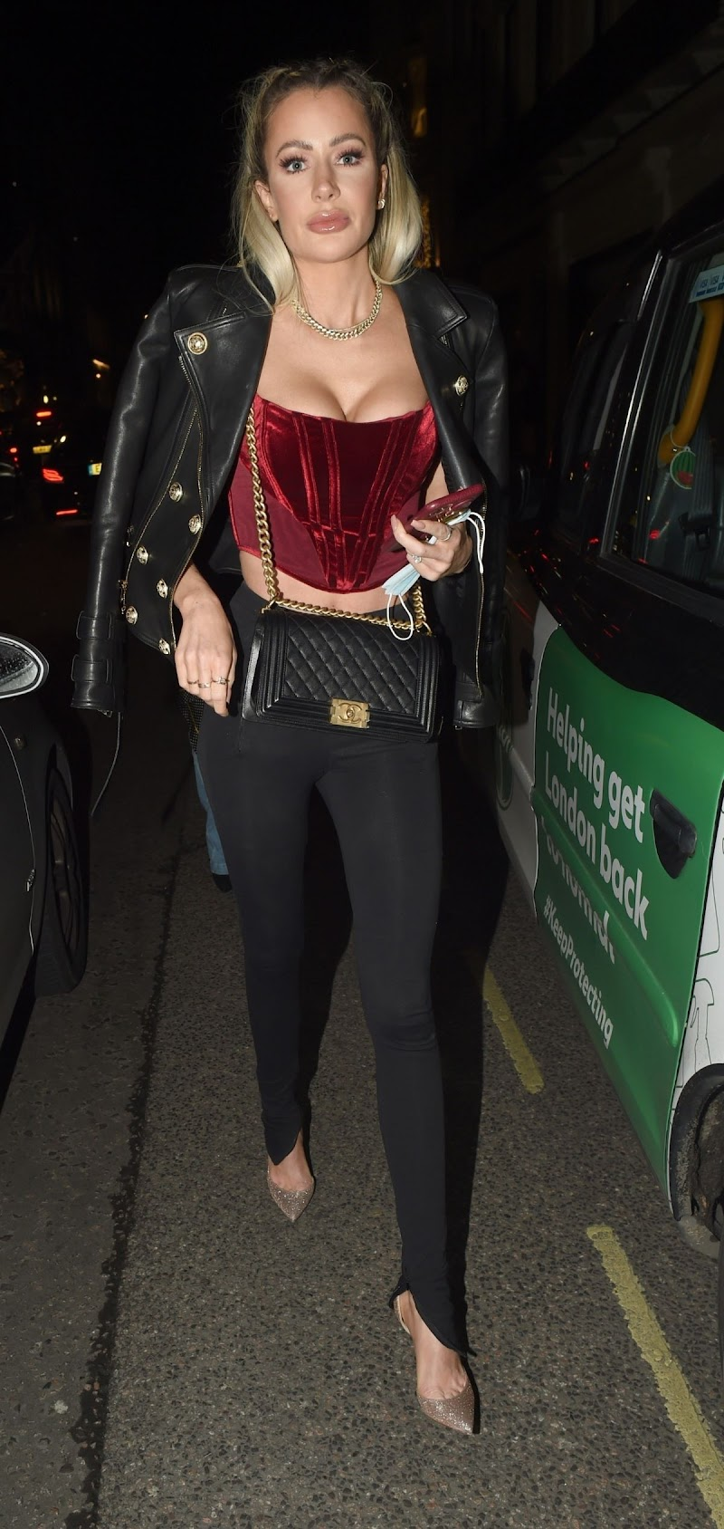 Olivia Attwood Spotted While Leaving MNKY House in London  9 Dec-2020