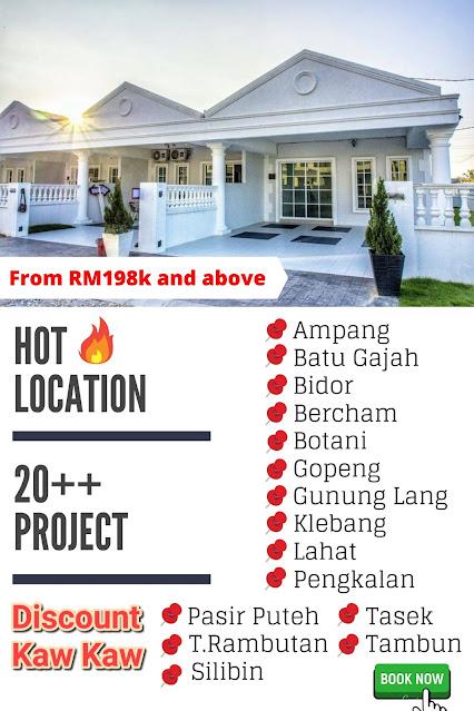 Iklan Rumah murah Di kawasan-kawasan sekitar negeri Perak