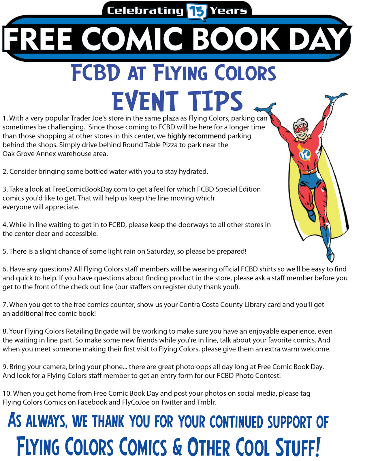 Flying Colors News And Views: Be Here Saturday May 7th For