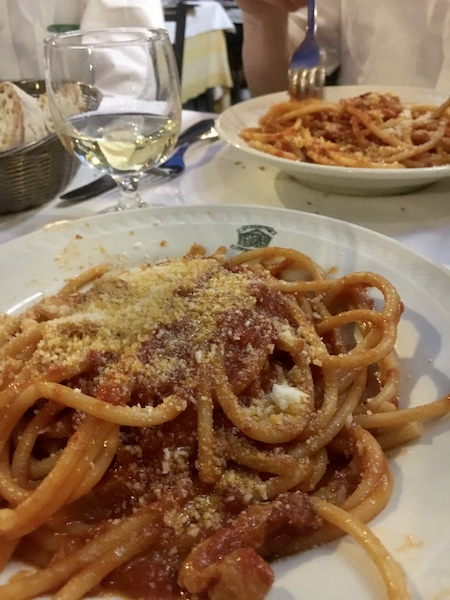 Bucatini Amatriciana at Giggetto