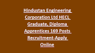 Hindustan Engineering Corporation Ltd HECL Graduate, Diploma Apprentices 169 Posts Recruitment-Apply Online