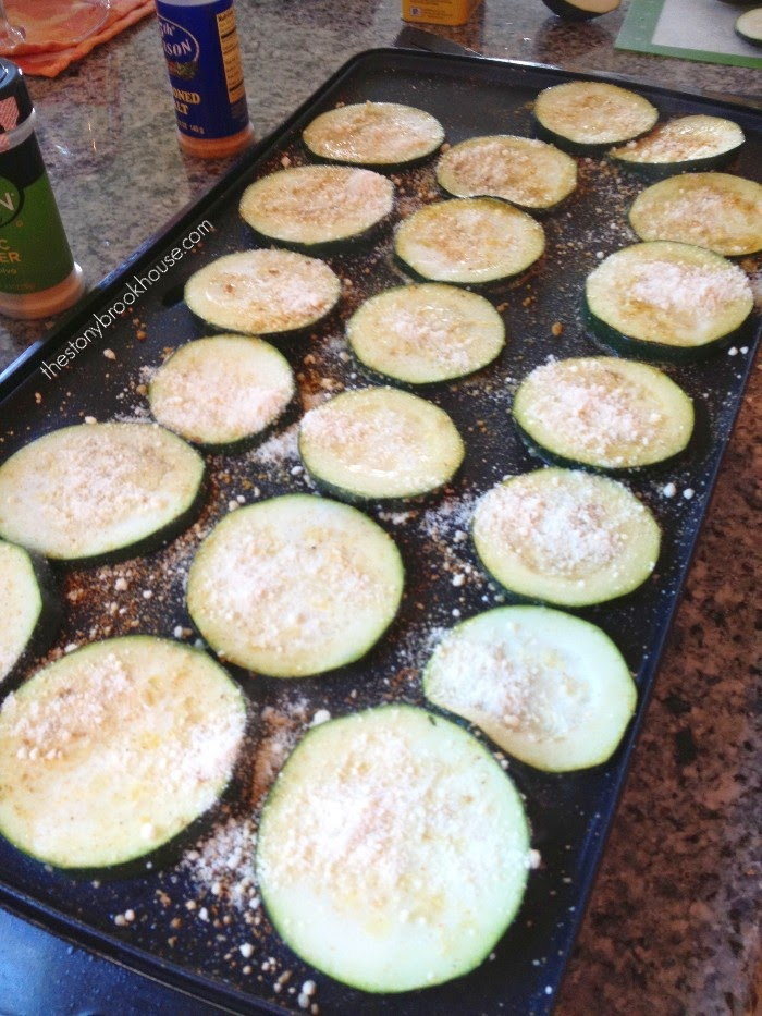 Zucchini slices on electric griddle